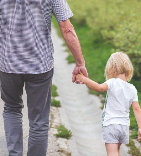 grandpa with child